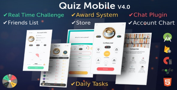 Quiz Mobile (Mutual Quiz Challenge) - CodeCanyon Item for Sale