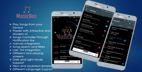 MusicBox-Modern Music Player With Admob Intergration - CodeCanyon Item for Sale