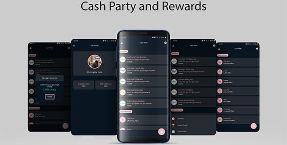 Cash Party and Rewards with 13 Networks and Laravel Admin Panel