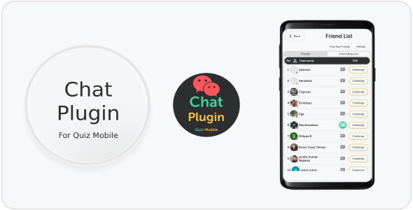 Quiz Mobile Chat Plugin
