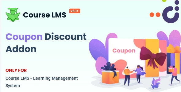 Course LMS Coupon Discount addon - CodeCanyon Item for Sale