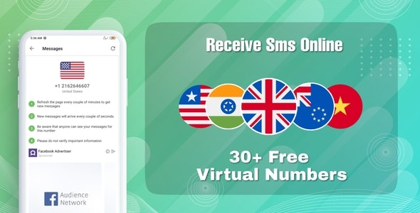 Receive temporary OTP online For Android - CodeCanyon Item for Sale