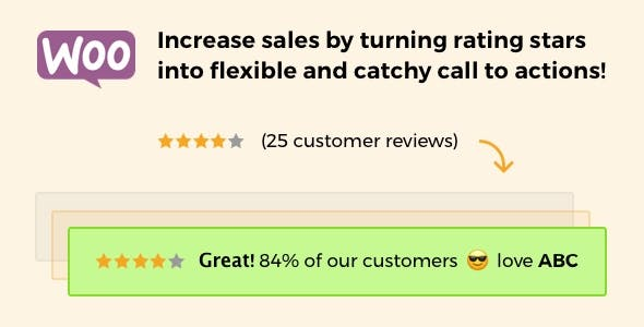 Rating Stars Messages for WooCommerce