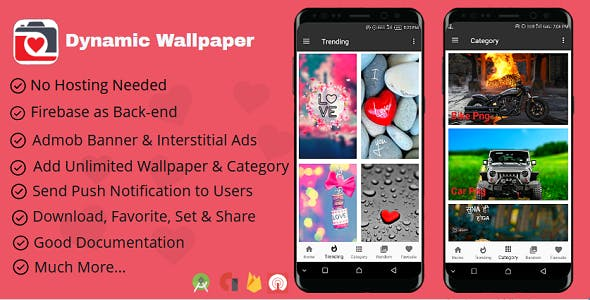 Dynamic Wallpapers Android App With Firebase Back-end