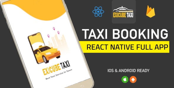 Exicube Taxi App ( GrabCab ) + iOS + Android + Web + Admin - CodeCanyon Item for Sale