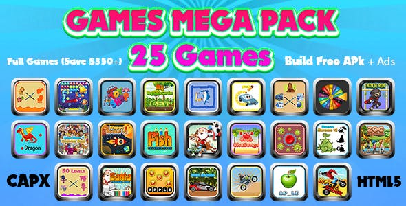 Games Mega Collection (CAPX and HTML5) 25 Games