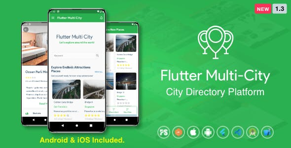 Flutter Multi City ( Directory, City Tour Guide, Business Directory, Travel Guide, Booking ) 1.3