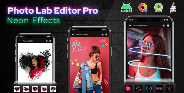 Photo Lab Editor Pro - Neon Effects - Photo Editor - CodeCanyon Item for Sale