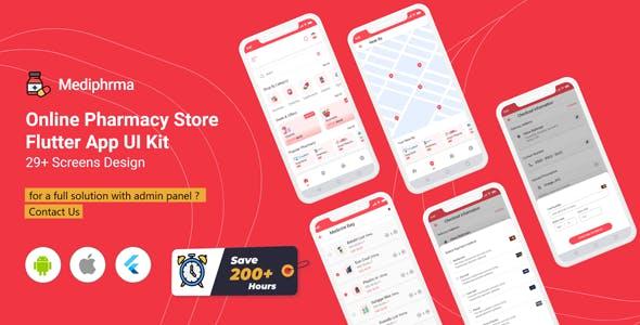 Mediphrma - Online Pharmacy Store Flutter Full App UI Kit
