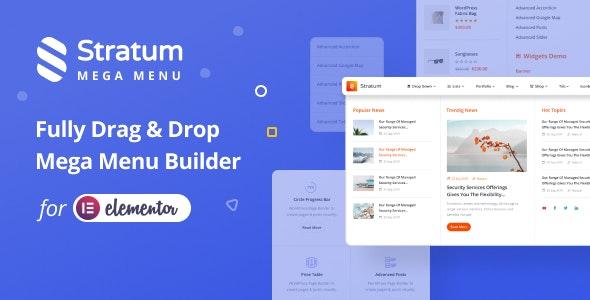 Stratum Mega Menu for Elementor - CodeCanyon Item for Sale