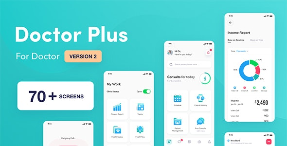 Doctor Plus - For Doctor React Native App Template - CodeCanyon Item for Sale
