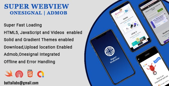 Super Webview- With and With out Admob and Onesignal | iOS