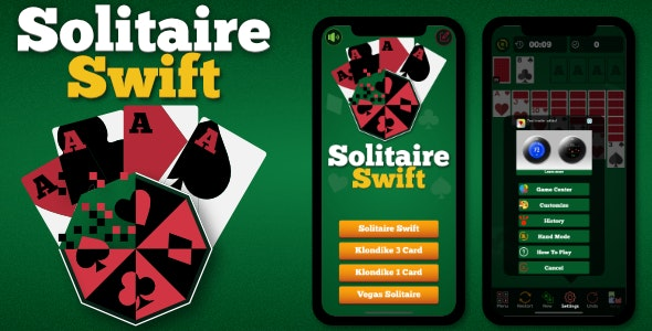 Solitaire - iOS Game SpriteKit Swift 5 (Ads) - CodeCanyon Item for Sale