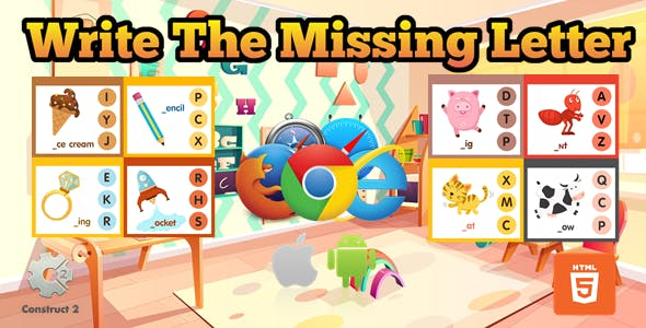 Write The Missing Letter for Kids - Educational Game - (.Capx)