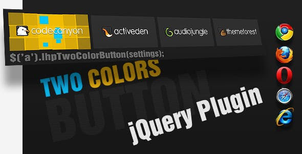 jQuery Animated Button & Menu