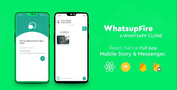 WhatsupFire - React Native Messenger