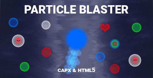 Particle Blaster Game (CAPX and HTML5) - CodeCanyon Item for Sale