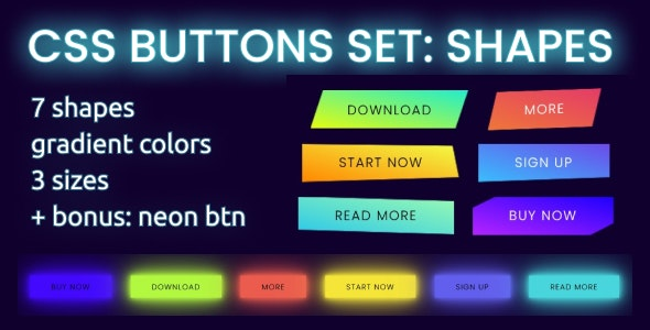 Creative Shapes - Buttons set - CodeCanyon Item for Sale