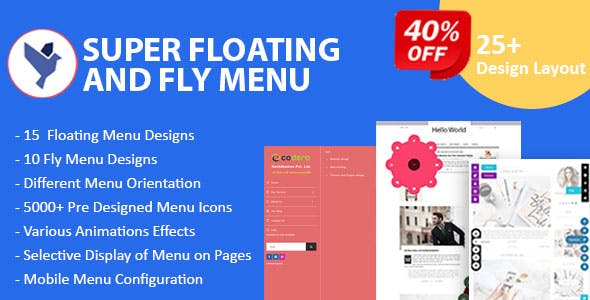 Super Floating and Fly Menu - Sticky, side, one page navigator, off-canvas menu plugin for WordPress