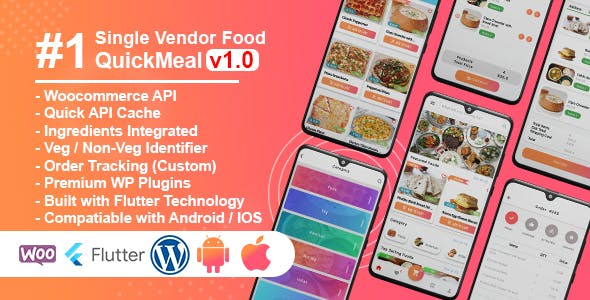 QuickMeal WooCommerce - Flutter Food Delivery Full App