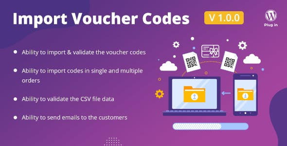 WooCommerce PDF Vouchers : Import Voucher Codes add-on