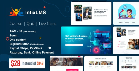 InfixLMS – Open Source Learning Management System VueJs – nulled