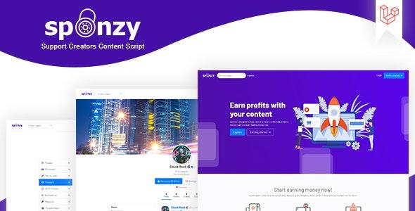 Sponzy v2.2 – content monetization script