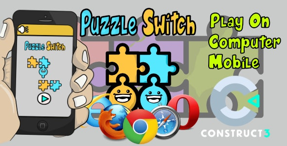 Puzzle Switch  HTML5 Game - With Construct 3 All Source-code (.c3p) - CodeCanyon Item for Sale