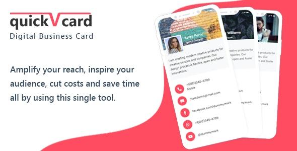 QuickVCard v1.4 – Digital Business Card SaaS PHP Script