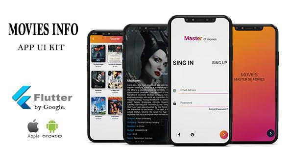 Movies Info App  Flutter UI