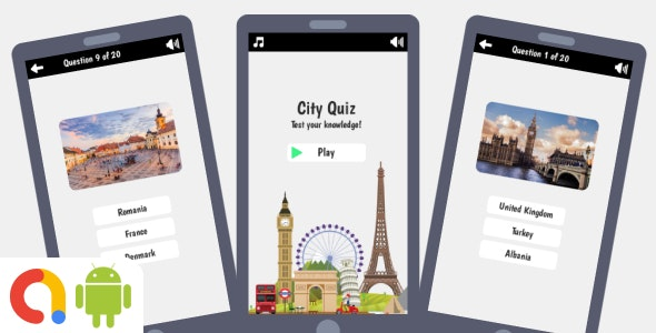 City Quiz Android Game with AdMob + Ready to Publish - CodeCanyon Item for Sale
