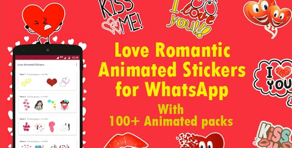 Love Animated Stickers for WhatsApp - Sticker Keyboard (+Bonus 2500+ Animated Stickers)