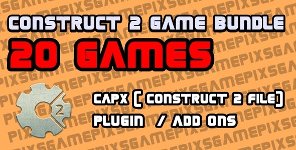 Construct 2 Game Bundle - 20 Games