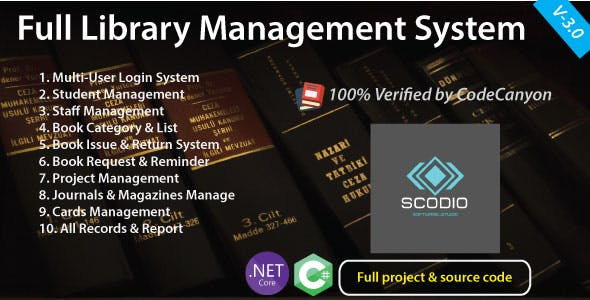Full Library Management System with source code