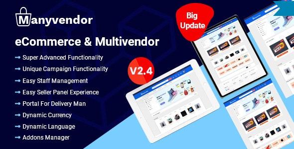 Manyvendor - eCommerce & Multi-vendor CMS - CodeCanyon Item for Sale