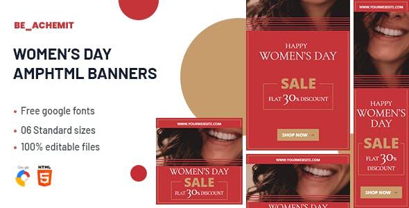 Women's Day Amphtml Banner