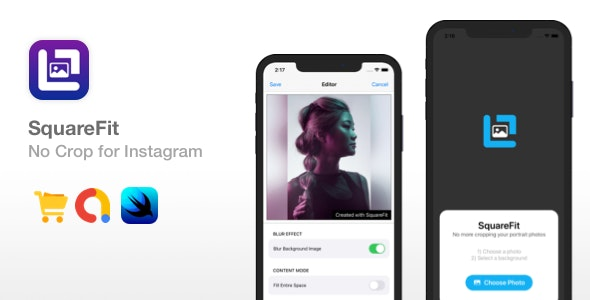 SquareFit - No Crop for Instagram | iAP & Ads - CodeCanyon Item for Sale