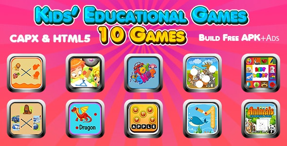 Kids Educational Games Collection 01 (CAPX and HTML5) 10 Games - CodeCanyon Item for Sale