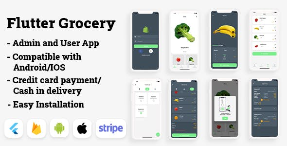 Flutter Grocery: Full Android + iOS eCommerce App
