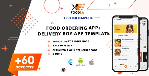 3 Apps   Flutter Food Ordering App ,Deliver Boy App & Shop(Vendor) Template   Android & IOS(Flutter)