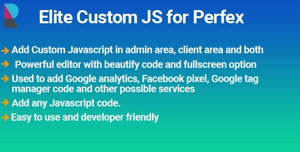Elite Custom JS module for Perfex CRM - CodeCanyon Item for Sale