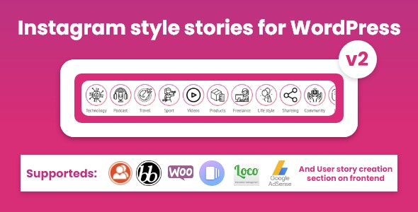 Instagram style stories for WordPress - BP Story