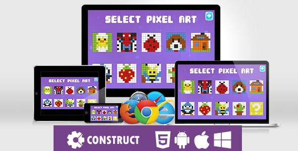 Pixel Color Kids - HTML5 Educational Game
