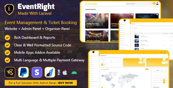 EventRight - Ticket Sales and Event Booking & Management System