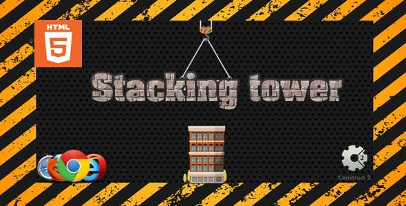 Stacking tower - Casual game - HTML5