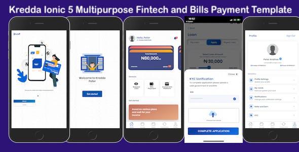 Kredda Multipurpose Fintech and Bills Payment Template