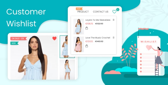 Customer Wishlists & Favorites Products List - CodeCanyon Item for Sale