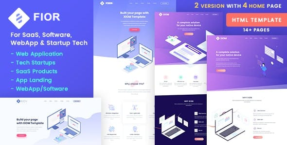 FIOR – SaaS, Software, WebApp and Startup Tech HTML Template
