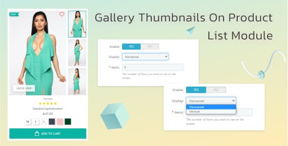 Gallery Thumbnails on Product Listings