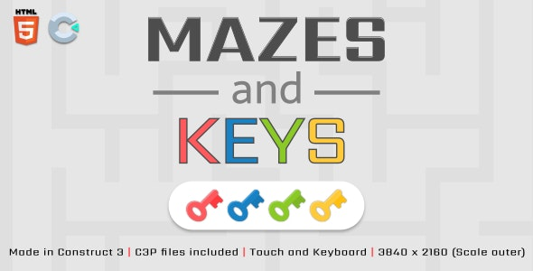 Mazes and Keys - HTML5 Casual Game - CodeCanyon Item for Sale